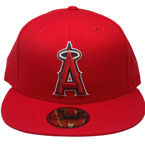 9249c18192cdd Anaheim Angels New Era Custom 59Fifty Fitted Hat - Red, Silver, Navy, White  ...