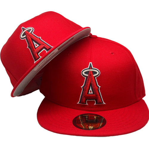 0cfc8c4371911 ... Anaheim Angels New Era Custom 59Fifty Fitted Hat - Red, Silver, Navy,  White