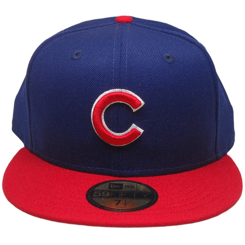 74c5e25d Chicago Cubs New Era Custom 59Fifty Fitted Hat - Dark Royal, Red, White ...