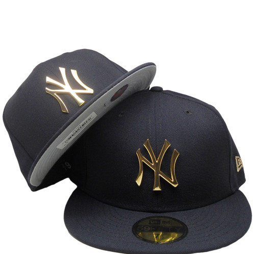 f03c79082d44e8 ... New York Yankees New Era Custom 59Fifty Fitted Hat - Navy, Gold