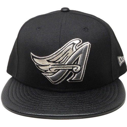 8cfd13c18e115 Anaheim Angels New Era Custom 59Fifty Fitted Hat - Black, Gray, Silver ...