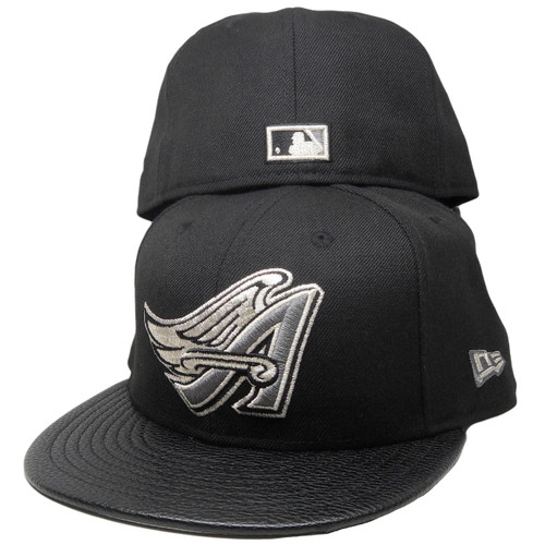 0e405e309f7cd ... Anaheim Angels New Era Custom 59Fifty Fitted Hat - Black, Gray, Silver  ...