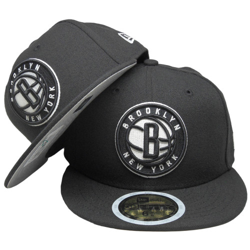 finest selection cd9ec 0c9a2 ... Brooklyn Nets New Era 2017 Basic KIDS fitted Hat - Black, White