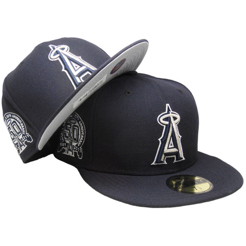 e8d908c07 Anaheim Angels Custom New Era 59Fifty Fitted - Navy, Silver, White