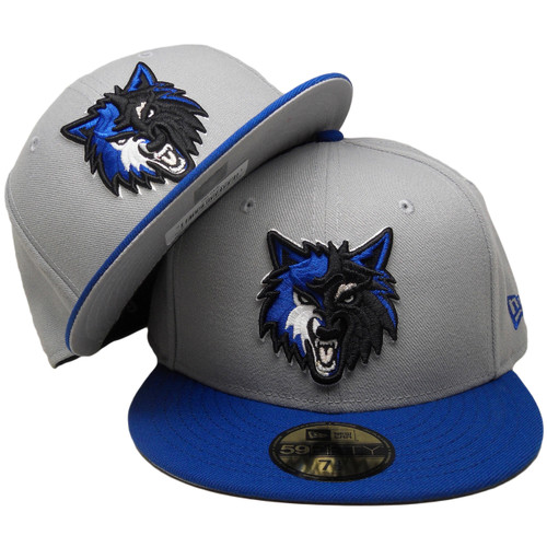 26ab5f7f6be0c8 Minnesota Timberwolves New Era Custom 59Fifty Fitted - Gray, Royal, Black