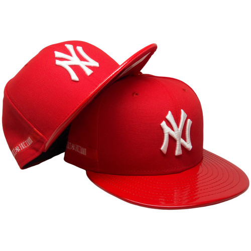 e7402047 New York Yankees New Era 59Fifty Custom Fitted - Red, Red Patent Leather,  White ...