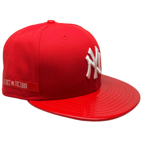 43b23820 ... New York Yankees New Era 59Fifty Custom Fitted - Red, Red Patent  Leather, White ...