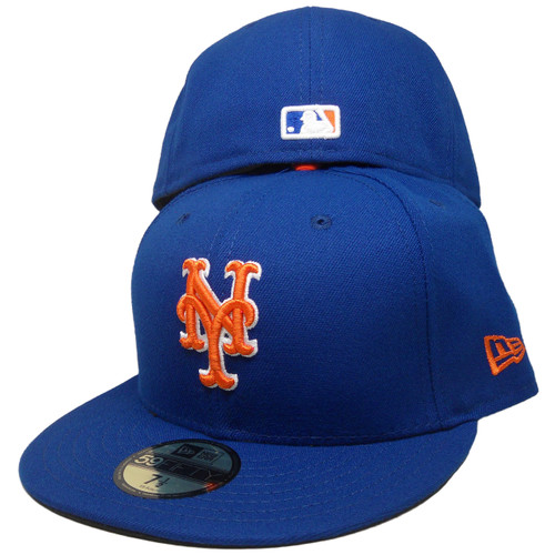 hot sale online 57542 6ab28 New York Mets New Era 59Fifty 2018 Onfield Fitted Hat - Royal, Orange, White  ...