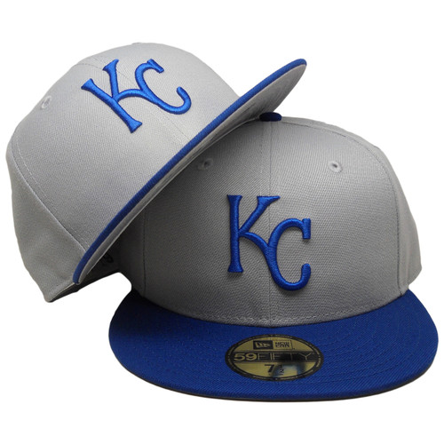 a59f00c7 Kansas City Royals New Era Custom 1999 Onfield 59Fifty Fitted - Gray, Royal  Blue