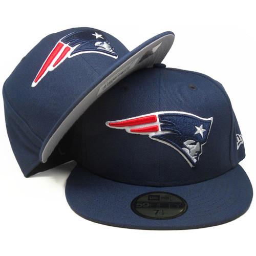 NFL BLACK New England Patriots New Era 59Fifty Cap