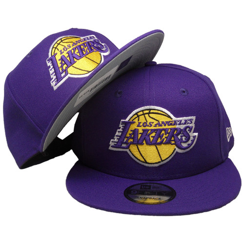 the latest c8ea0 bfded ... Los Angeles Lakers New Era Basic 9Fifty Snapback -Purple, Yellow, White