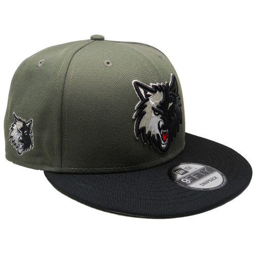 1cbc73428447a7 ... Minnesota Timberwolves New Era Custom 9Fifty Snapback - Olive, Black,  Silver ...