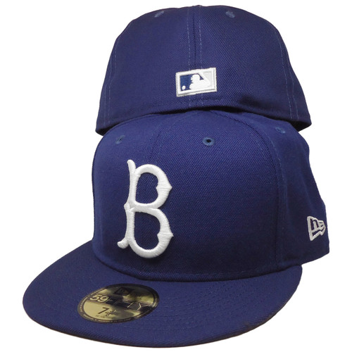 2fae8cd48 ... Brooklyn Dodgers New Era Gray Bottom 59Fifty Fitted Hat - Dark Royal,  White