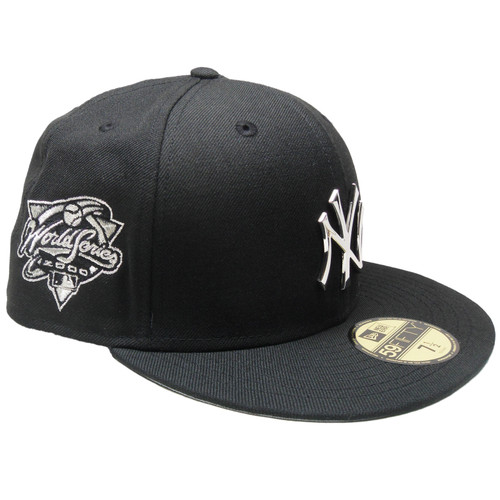 New Era Black 2000 World Series New York Yankees Silver Metal Badge fitted hat