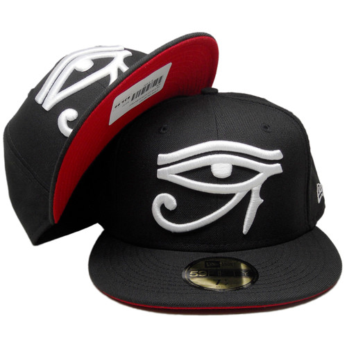 Eye Of Horus Embroidered Flat Visor Snapback Hat