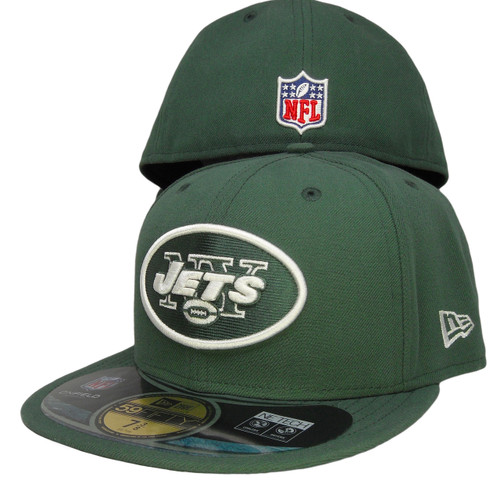 61cf58a11f5671 New York Jets New Era 59Fifty Onfield Fitted Hat - Hunter Green, White ...