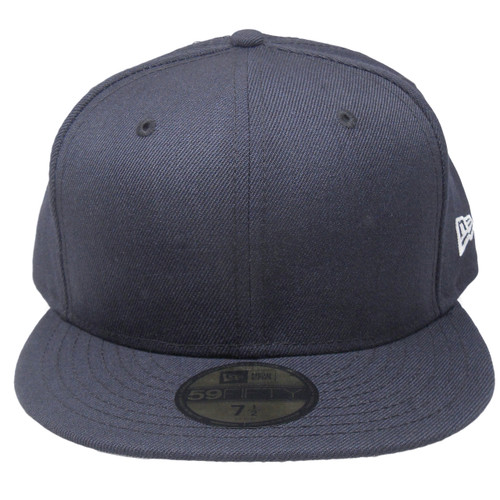 sports shoes e8382 f08ab New Era 59Fifty Plain Blank Fitted Hat - Navy ...
