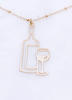 Wine Bottle Pendant Necklace