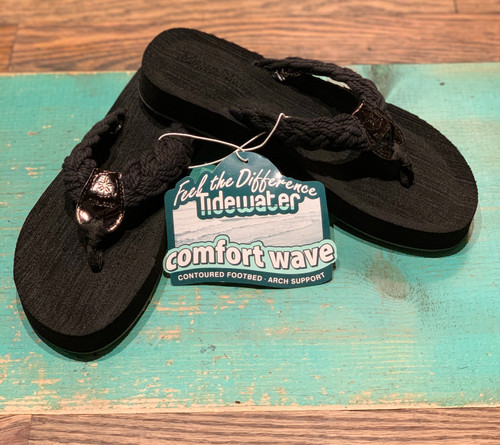 Nantucket Black Flip Flops