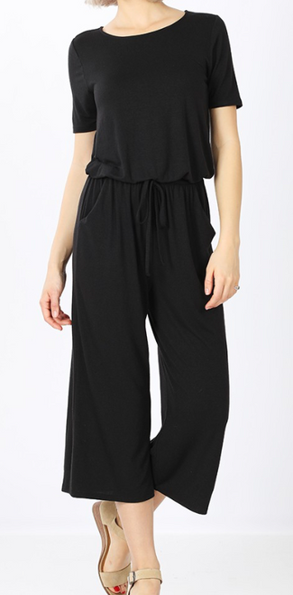 Capri Jumpsuit w/ Pocket