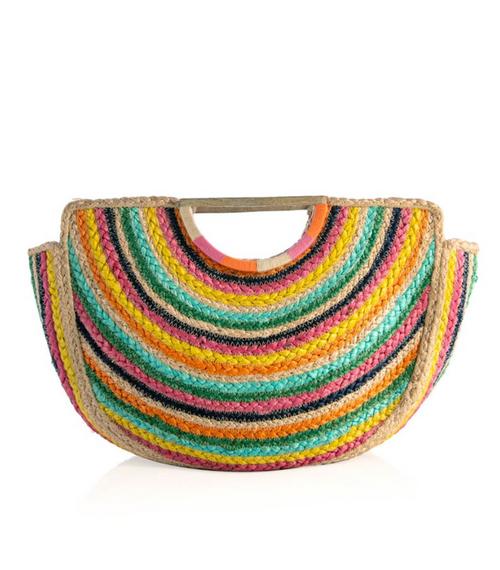 Capri Top Handle Jute Bag