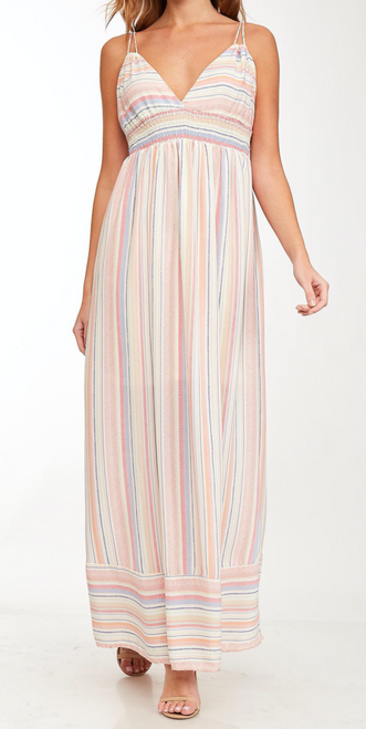 Colorful Striped Maxi Dress