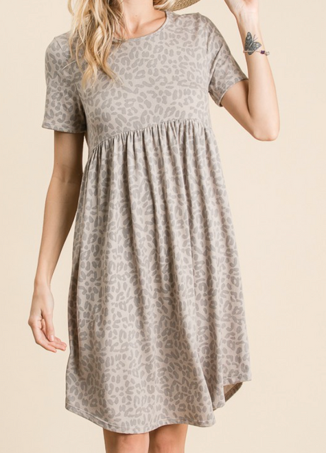 Animal Print Soft Knit Dress