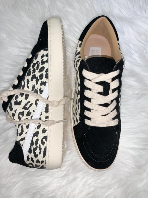 Jordan Black Leopard Sneakers
