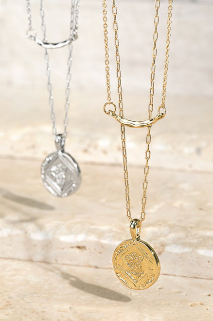 Metal Coin Pendant Necklace