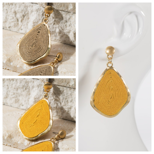 Swirled Cork Earrings