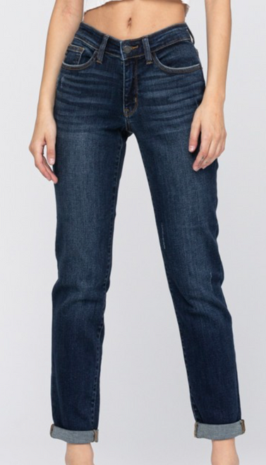Judy Blue Non Distressed Tapered Slim Fit Jeans