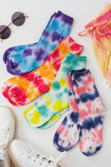 Tie Dyed Ankle Boot Socks