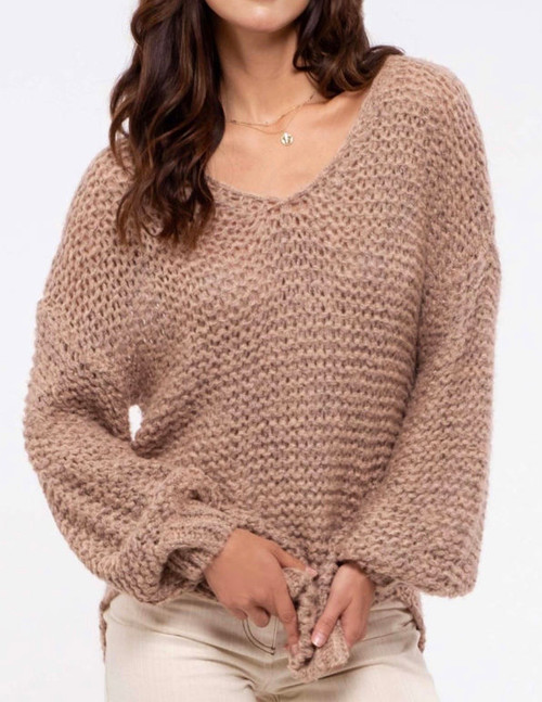 Indian Pink Chunky Knit Sweater