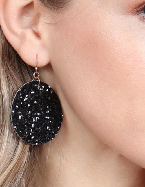 Sequin Circle Drop Earrings