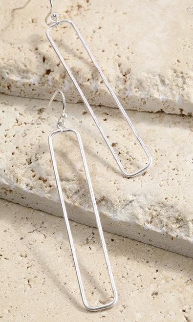Open Rectangle Earrings