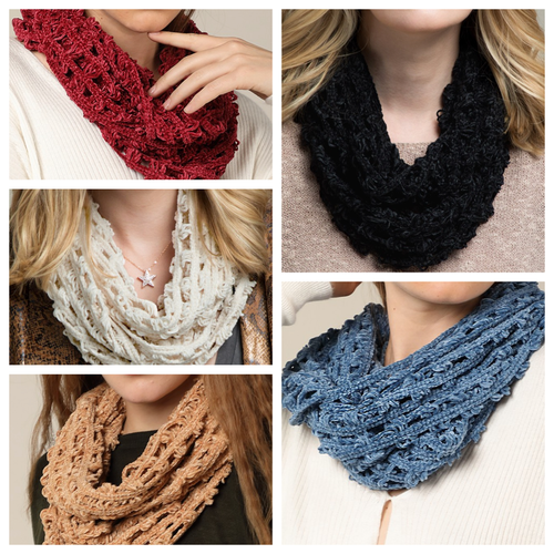Chenille Net Infinity Scarf