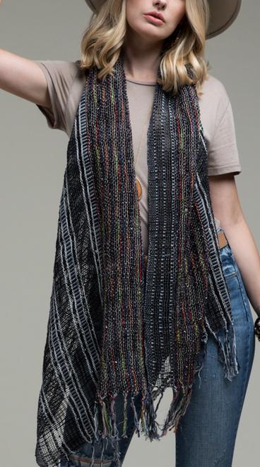 Woven Multi Yarn Dye Color Scarf