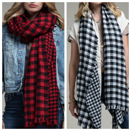 Reversible Buffalo Check Scarf