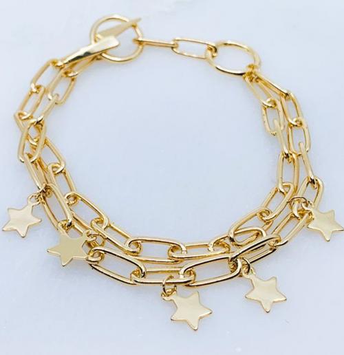 Star & Lightning Charm Bracelet