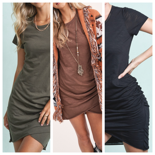 Jasmine Ruched Mini Dress
