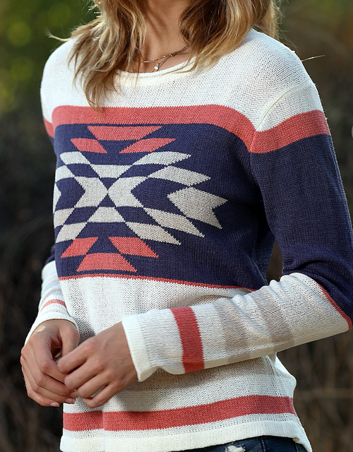 Aria Aztec Stripe Sweater