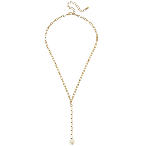 Charlotte Gold Y Paperclip Chain