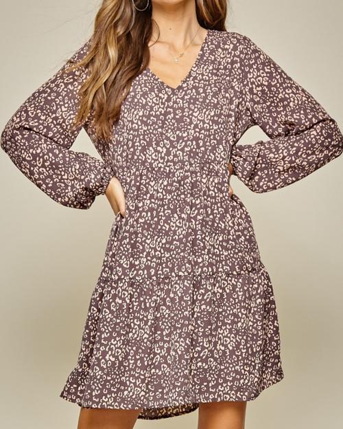 Jamie Mocha Leopard Dress