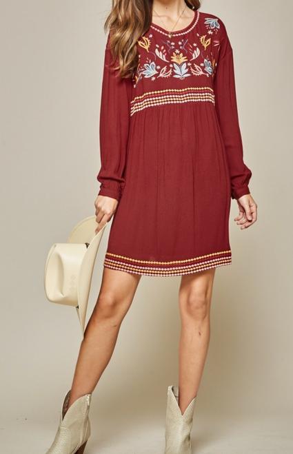 Ashleigh Burgundy Dress