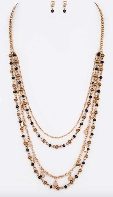 Petite Beaded Layer Necklace Set