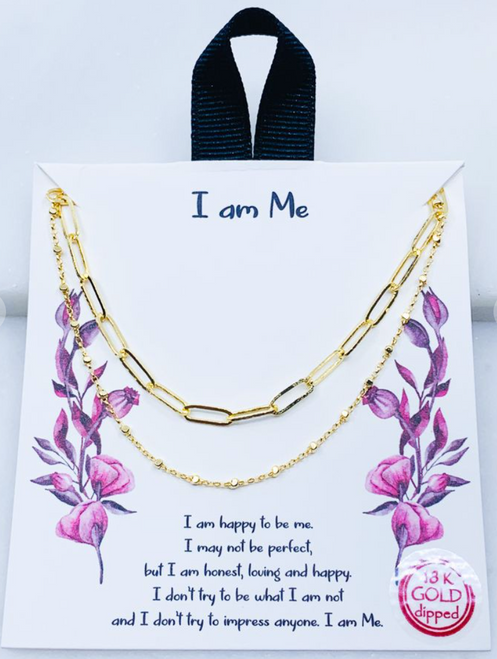 """I Am Me"" Carded Necklace"