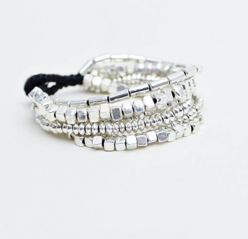 Allie Six Strand Alloy Bracelet