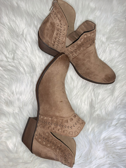 Maye Taupe Bootie