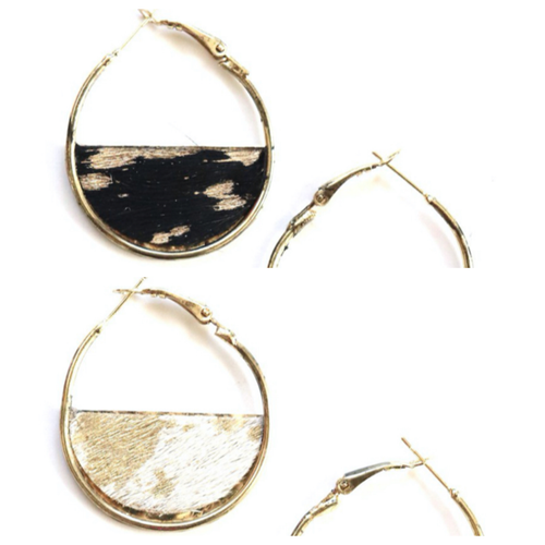 Animal Print Hoop Earring-Small