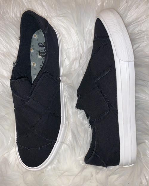 Ivette Black Slip On Sneaker